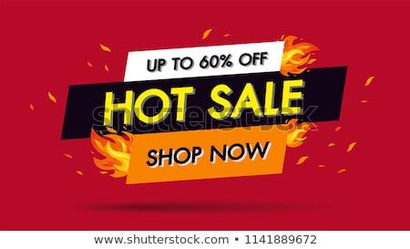 Summer fire flames banner, vector illustration Stock photo © carodi