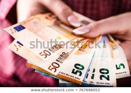 Empresario banco ofrecimiento dinero préstamo euros Foto stock © stevanovicigor