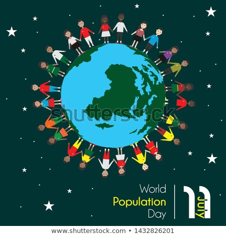 Calendário mundo população dia chocolate Foto stock © Oakozhan