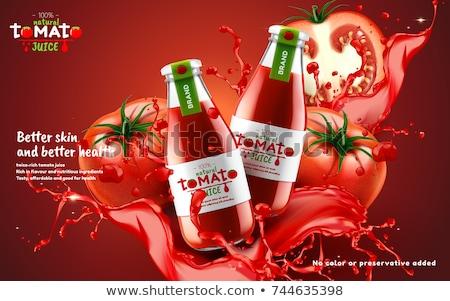 tomatensap · geïsoleerd · witte · water · zomer · drinken - stockfoto © popaukropa