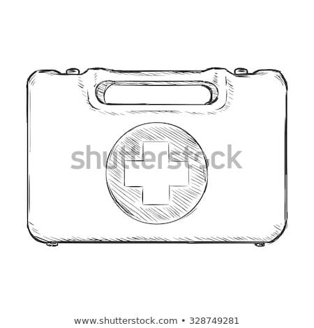 elsősegély · készlet · rajz · ikon · vektor · izolált - stock fotó © rastudio