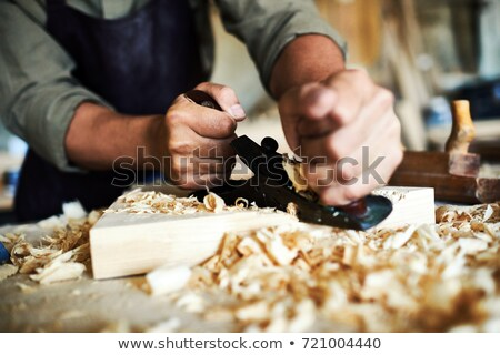 artisan working with wooden piece of furniture Stock photo © Giulio_Fornasar