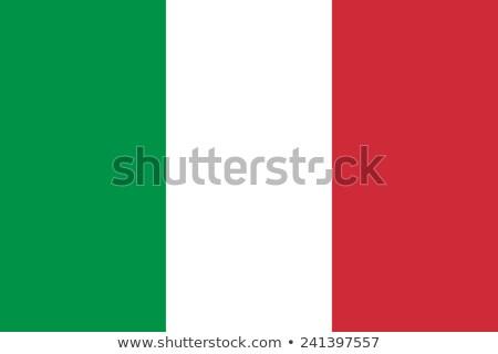 İtalya bayrak orijinal oran renkler yüksek Stok fotoğraf © JeksonGraphics