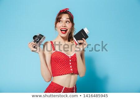 Woman wearing a swimsuit Stock photo © orla