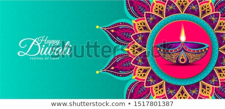 beautiful happy diwali indian festival greeting card design vect stock photo © sarts