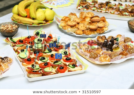 Catering buffet style with different light snack Stock photo © Oakozhan