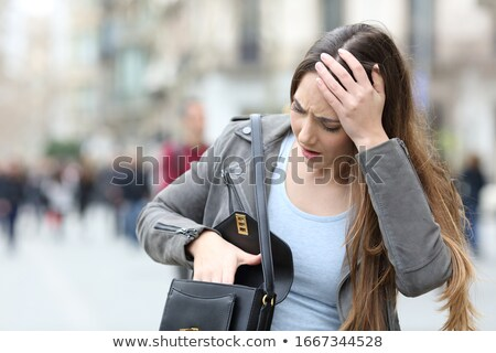 preoccupied city woman Stock photo © ssuaphoto
