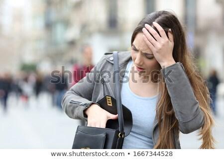 preoccupied city woman Stock photo © ssuaphoto