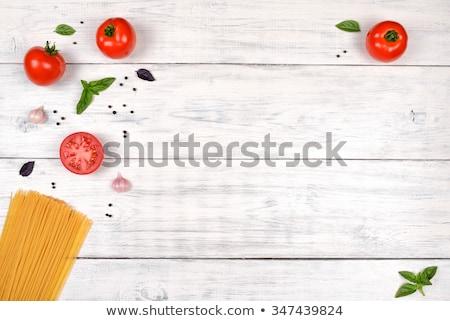 macarrão · naturalismo · vermelho · monte · naturalmente - foto stock © erierika