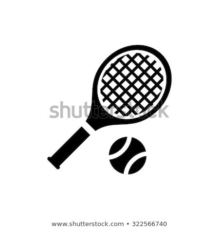 teniszütő · labda · sport · készlet · eps10 · izolált - stock fotó © Aleksangel