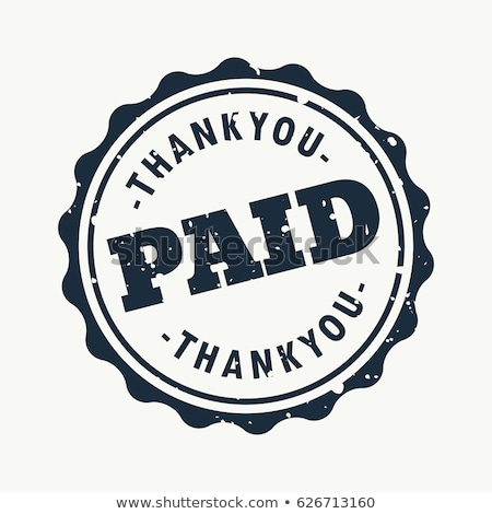 thankyou and paid stamp vector Stock photo © SArts