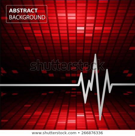 Normale cardiogramme test résumé gris lumières Photo stock © Tefi