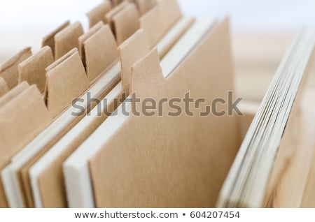 Index Cards with Blank Brown Dividers Stock photo © frannyanne