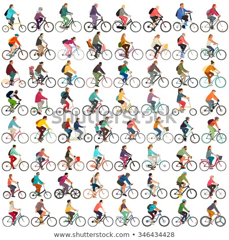 Unrecognizable female hipster person riding bicycle on city stre Stock photo © stevanovicigor