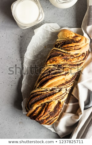 Braided poppy seed bread rolls Stock photo © Digifoodstock