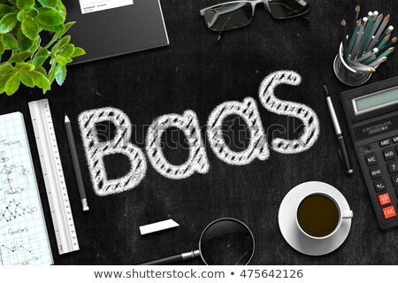 business · integratie · zwarte · schoolbord · 3D - stockfoto © tashatuvango