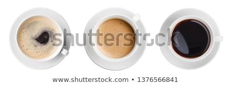 Odizolowany filiżankę kawy kubek kolorowy emalia kopia przestrzeń Zdjęcia stock © StephanieFrey