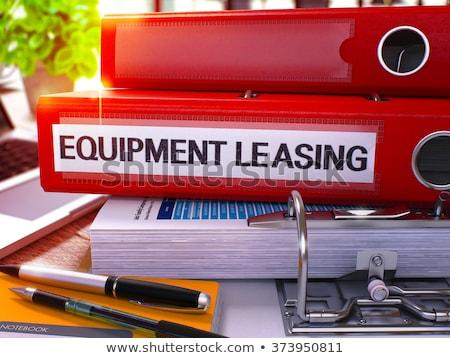Czerwony biuro folderze napis wyposażenie leasing Zdjęcia stock © tashatuvango