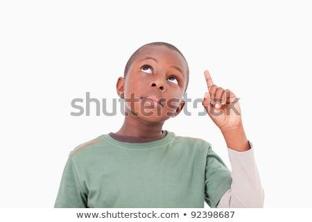 Işaret çocuk konuşma parmak sevinç Stok fotoğraf © wavebreak_media