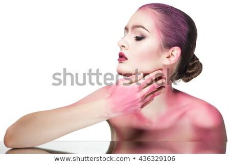 różowy · blask · tekstury · strony · streszczenie · sztuki - zdjęcia stock © julenochek