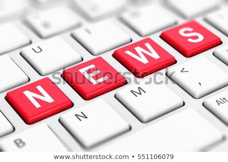 Business News - Keyboard Key Concept. 3D Illustration. Stock photo © tashatuvango