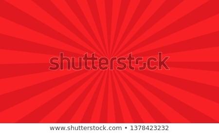 Red Sunburst Stock photo © barbaliss