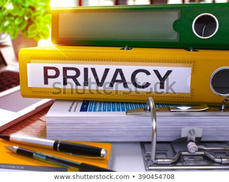 Private on Office Binder. Blurred Image. 3D. Stock photo © tashatuvango