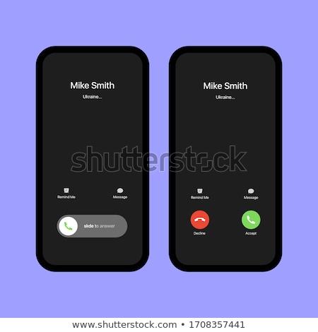 Incoming call on smartphone screen Stock photo © blumer1979
