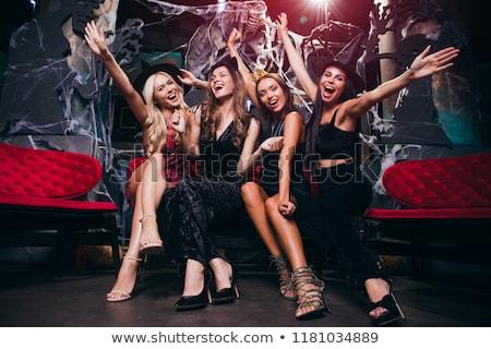 érzelmes fiatal nők halloween jelmezek kép kettő Stock fotó © deandrobot