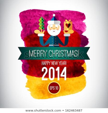 ano · novo · padrão · árvore · de · natal · brinquedos · bola · estrela - foto stock © frescomovie
