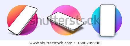 vektor · piros · mobiltelefon · illusztráció · internet · telefon - stock fotó © robuart