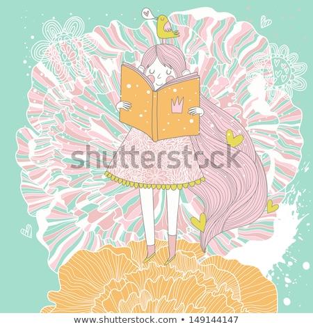 少女 · ピンク · 花 · 美少女 · 香ばしい - ストックフォト © artjazz