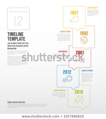 ベクトル インフォグラフィック 垂直 タイムライン テンプレート 薄い ストックフォト © orson