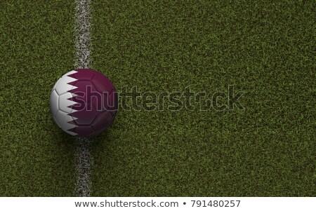 Katar · futball · futball · labda · stadion · 3D - stock fotó © Wetzkaz