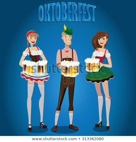 Oktoberfest girl set. National Beer Festival in Germany. Woman a Stock photo © popaukropa