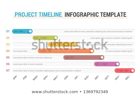 Foto stock: Vector Project Timeline Gantt Graph