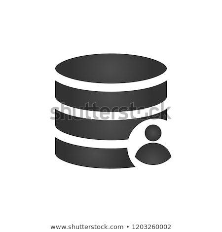 customer database icon connecting people in one database add user to db account stock photo © kyryloff