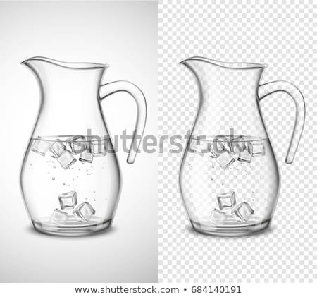 Víz jégkockák üveg nyár csepp tiszta Stock fotó © Zerbor
