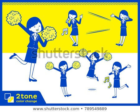 2tone type suit business women_set 7 Stock photo © toyotoyo