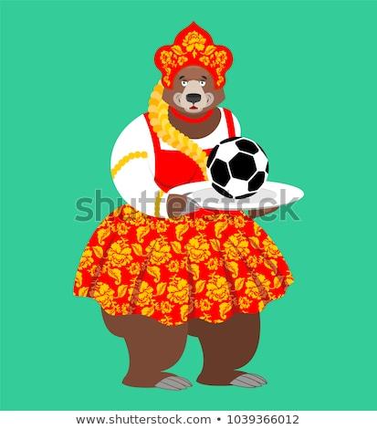 Orosz medve futballabda üdvözlet futball bajnokság Stock fotó © popaukropa