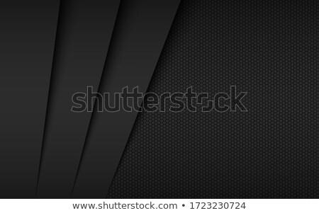 Fekete absztrakt modern vektor szélesvásznú egyszerű Stock fotó © kurkalukas