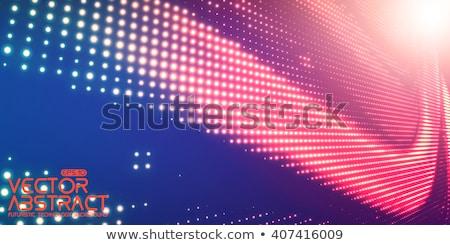 Foto stock: Tecnologia · superfície · vermelho · néon · luz · abstrato