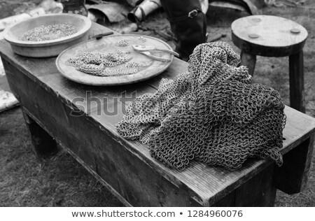Zincir posta göstermek ortaçağ adil Stok fotoğraf © sarahdoow