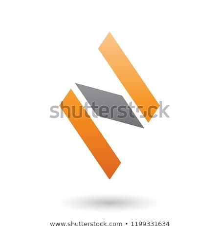オレンジ · 黒 · ダイヤモンド · 手紙 · ベクトル - ストックフォト © cidepix