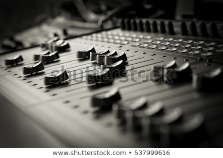 Stock photo: music mixing console at sound recording studio