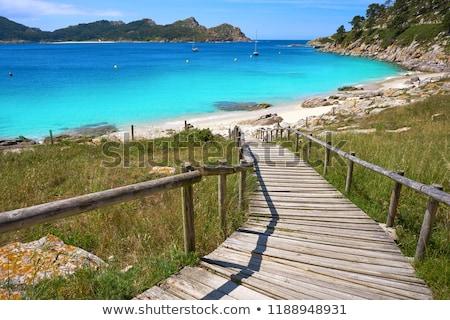 Nostra Senora beach in Islas Cies islands of Vigo Stock photo © lunamarina