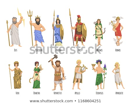 Grieks mythologie mascotte collectie icon illustratie Stockfoto © patrimonio