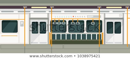 train wagon interior and view vector illustration stock photo © robuart