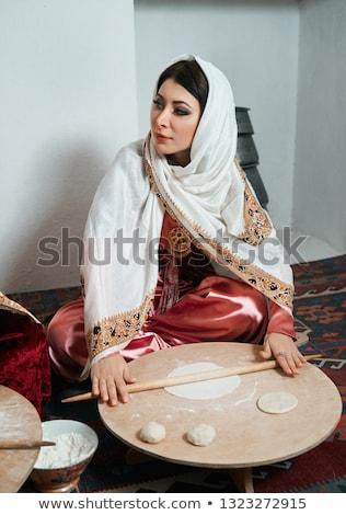 Arab old women_Meal Stock photo © toyotoyo