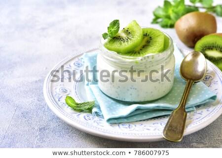Kefir sementes comida vidro Foto stock © unikpix